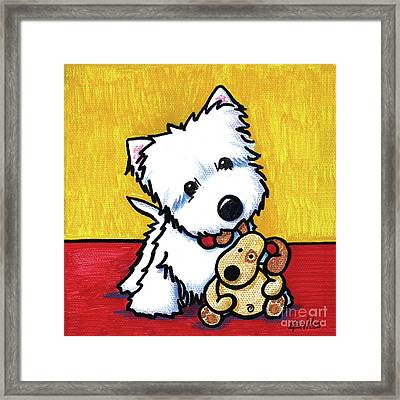 Ditto And Pudge Painting Framed Print by Kim Niles