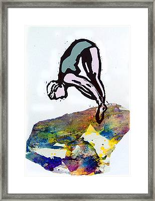 Dive - Evening Pool Framed Print