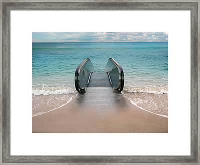 Dive Framed Print by Andrew Kow