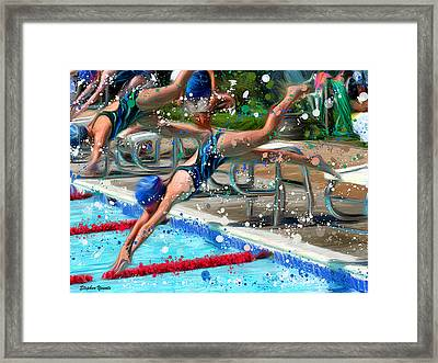 Dive Framed Print by Stephen Younts