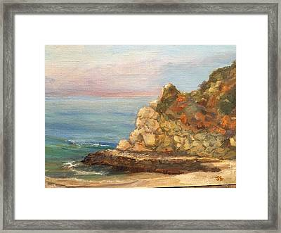 Divers Cove 1 Framed Print