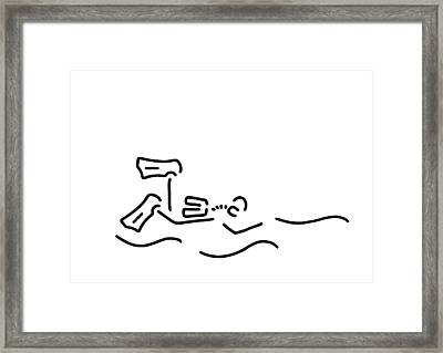 Divers Dip Oxygen Framed Print by Lineamentum