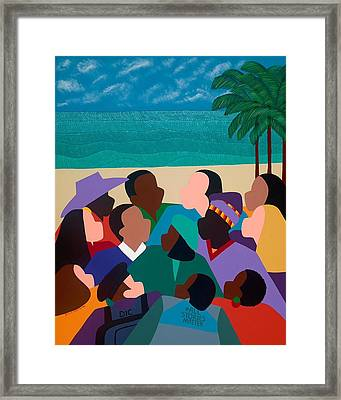 Diversity In Cannes Framed Print