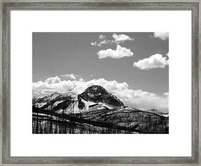 Divide In Blackand White Framed Print