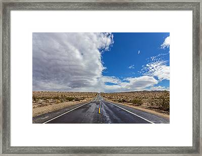 Divided Highway Framed Print by Peter Tellone