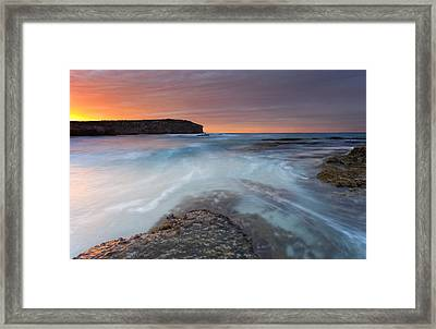Divided Tides Framed Print by Mike  Dawson