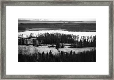 Divider Framed Print by Matti Ollikainen