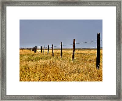 Framed Print featuring the photograph Dividing Line by Blair Wainman
