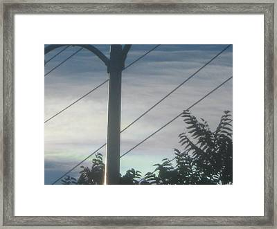 Dividing Lines Framed Print by Jennifer Wall