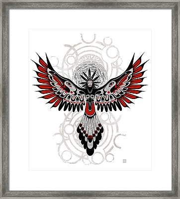 Divine Crow Woman Framed Print
