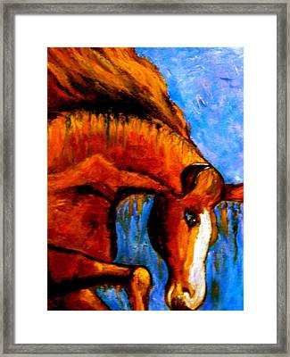 Framed Print featuring the painting Divine Equine by Marie Hamby