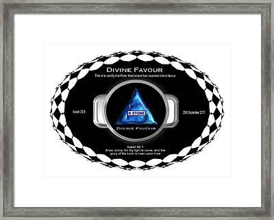 Divine Favour Framed Print