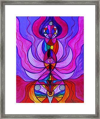 Divine Feminine Activation Framed Print by Teal Eye Print Store