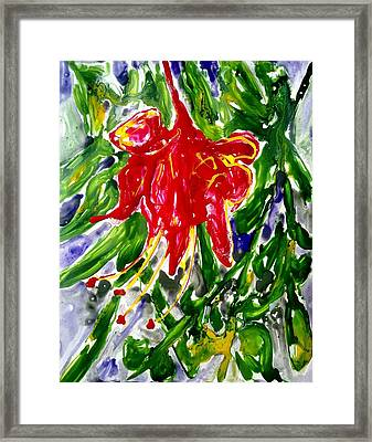 Divine Fllowers Framed Print by Baljit Chadha