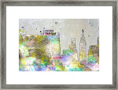 Divine Lorraine And City Hall - Philadelphia Water Color Framed Print