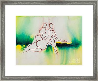 Divine Love Series No. 2090 Framed Print by Ilisa Millermoon