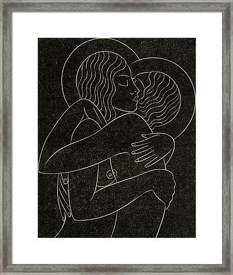 Divine Lovers Framed Print by Eric Gill