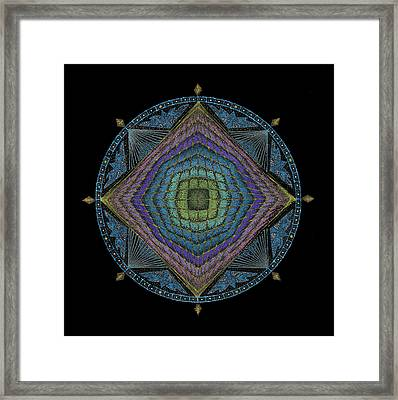 Framed Print featuring the painting Divine Masculine Energy by Keiko Katsuta