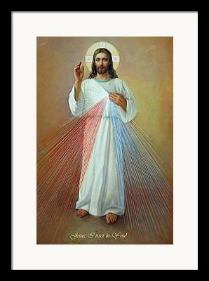 Saint Hope Digital Art Framed Prints