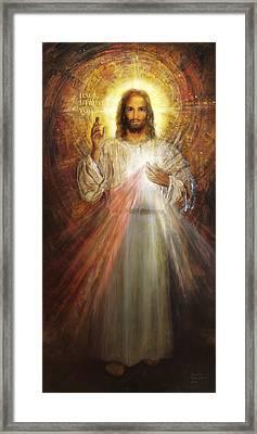 Divine Mercy, Sacred Heart Of Jesus 1 Framed Print