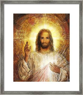 Divine Mercy, Sacred Heart Of Jesus 2 Framed Print