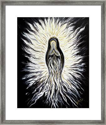 Divine Mother Black And White Framed Print
