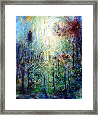 Divine Mother Earth Framed Print by Heather Calderon