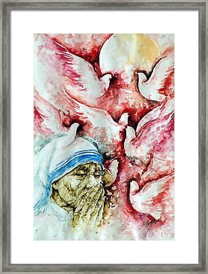 Divine Mother Teresa Framed Print by Pc