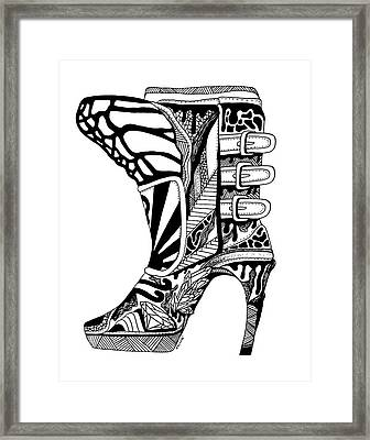 Divine Stairway High Heel Framed Print by Kenal Louis
