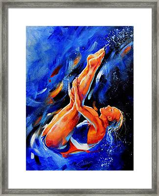 Diving Diva Framed Print