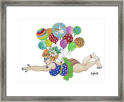 Diving For Coupons Framed Print by Rosemary Aubut