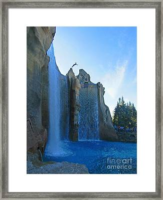 Diving From Cliffs Framed Print by John Malone