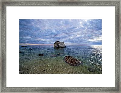 Diving Rock Framed Print