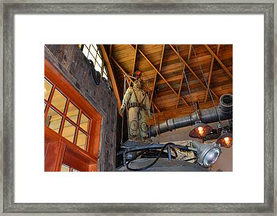 Diving Suit Hb Framed Print by David Lee Thompson