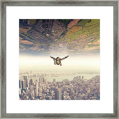 Diving To The Parallel Worlds Framed Print