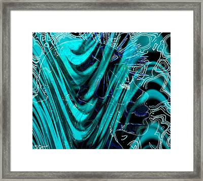 Divinity Dreams In Green Framed Print