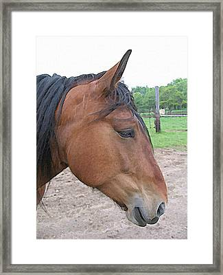 Divinity Watercolor Portrait Framed Print by Laurie With