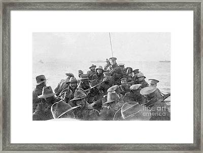 Divisional Signal Company Ggallipoli Peninsula  Framed Print by MotionAge Designs