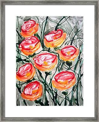 Divne Flowers Framed Print by Baljit Chadha