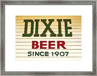 Dixie Beer Framed Print by Federico Arce