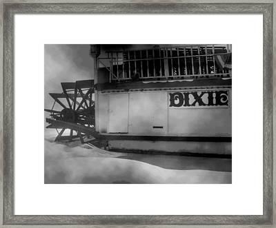 Dixie Boat Blizzard Framed Print by Michael L Kimble
