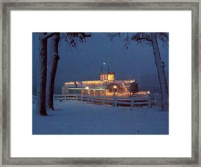 Dixie Boat Christmas Framed Print