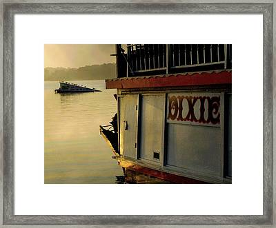 Dixie Boat Ski Ramp Framed Print
