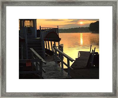 Dixie Boat Sunrise Framed Print by Michael L Kimble