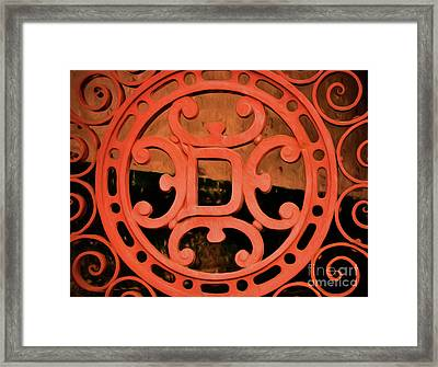 Dixie Brewery Medallion - Cast Iron Framed Print by Kathleen K Parker