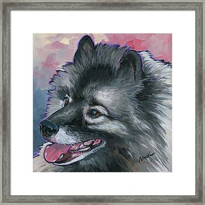 Framed Print featuring the painting Dixie by Nadi Spencer