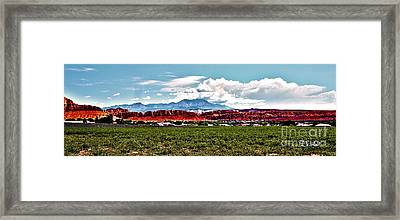 Dixie Red Rocks Framed Print