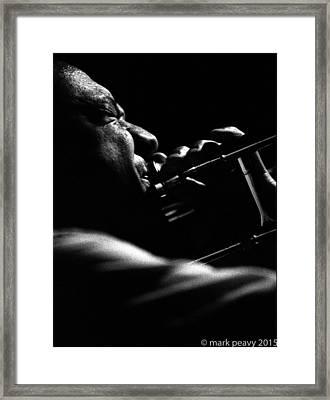 Dixieland Trombone New Orleans Framed Print