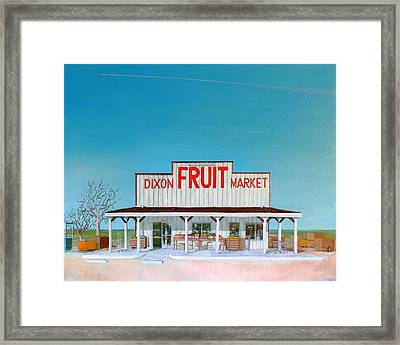 Dixon Fruit Market 1992 Framed Print by Wingsdomain Art and Photography