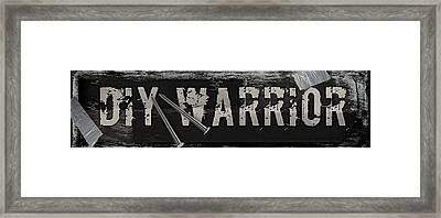 Diy Warrior Framed Print by Mindy Sommers